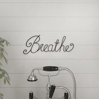 Metal Cutout- Breathe Decorative Wall Sign 3D Word Art Lavish Home