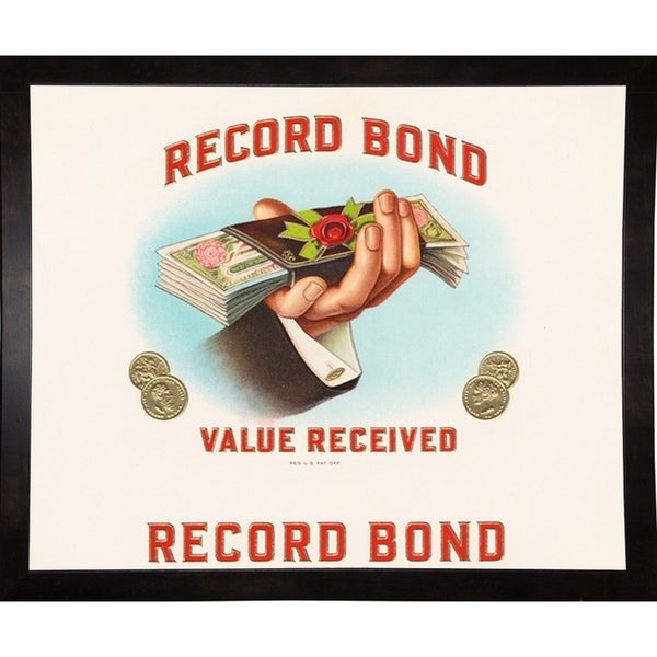 "Record Bond-ARTCIG63725 Print 18.5""x22.5"" by Art of the Cigar"