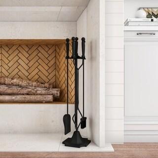 5 Piece Fireplace Tool Set- Heavy Duty Essential Tools Lavish Home
