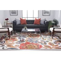 Alise Rugs Majolica Transitional Floral Area Rug - 8'9 x 12'3