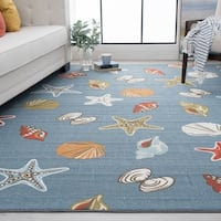 Alise Rugs Majolica Novelty Nautical Area Rug - 5'3 X 7'3