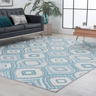 Alise Rugs Majolica Contemporary Geometric Area Rug