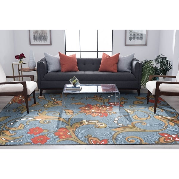 Alise Rugs Majolica Transitional Floral Area Rug - 5'3 X 7'3