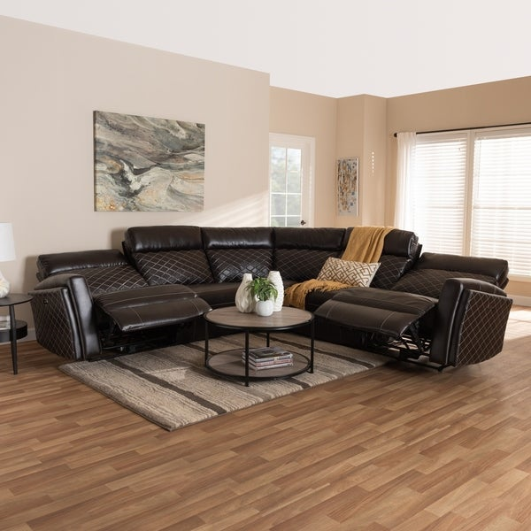 Shop Contemporary Faux Leather Sectional Sofa By Baxton