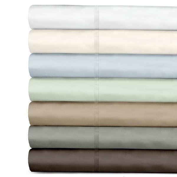 Veratex Egyptian Cotton Sateen 300 Thread Solid Pillowcases (Set of 2)