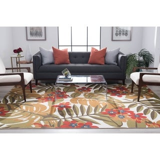 Alise Rugs Majolica Transitional Floral Area Rug - 7'10 x 9'10