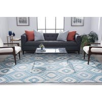 Alise Rugs Majolica Contemporary Geometric Scatter Mat Rug