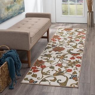 Alise Rugs Majolica Transitional Floral Runner Rug - 2'3 x 7'6