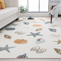 Alise Rugs Majolica Novelty Nautical Area Rug - 7'10 x 9'10