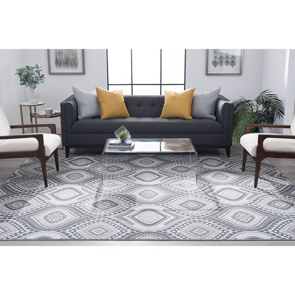 Alise Rugs Majolica Contemporary Geometric Scatter Mat Rug - 2' X 3'