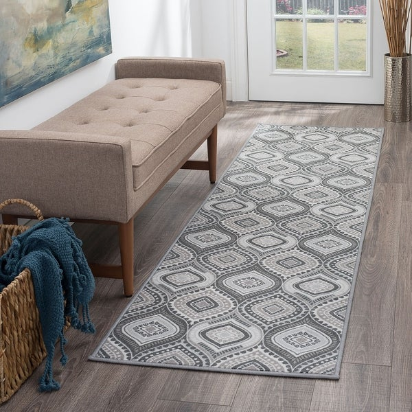 Alise Rugs Majolica Contemporary Geometric Runner Rug - 2'3 x 7'6