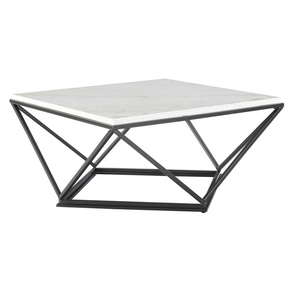 50125db7a1 Shop Picket House Furnishings Conner Square Marble Top Coffee Table ...