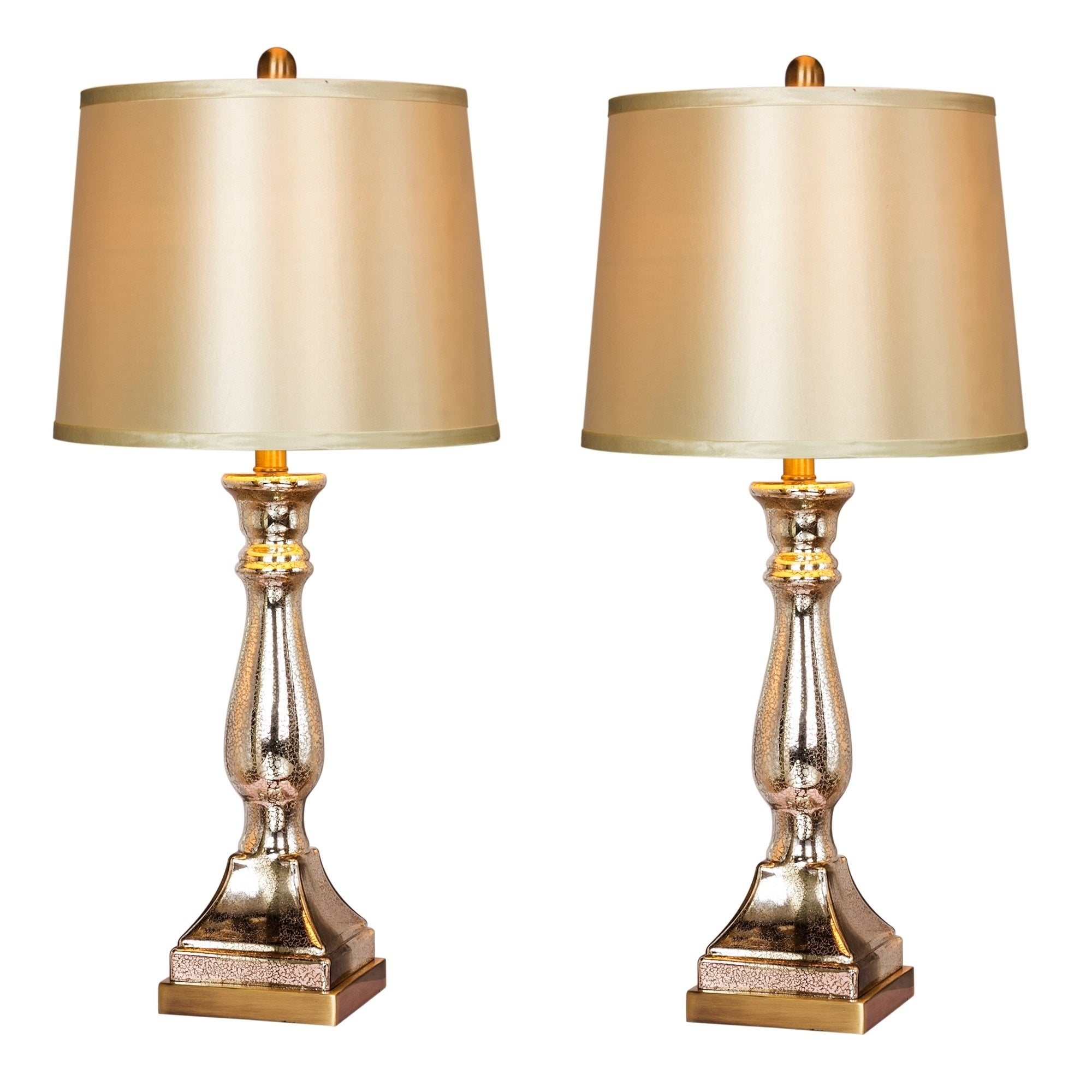Fangio Lighting S 5160 Pair Of 28in Glass Antique Brass Table Lamps Overstock 24121053