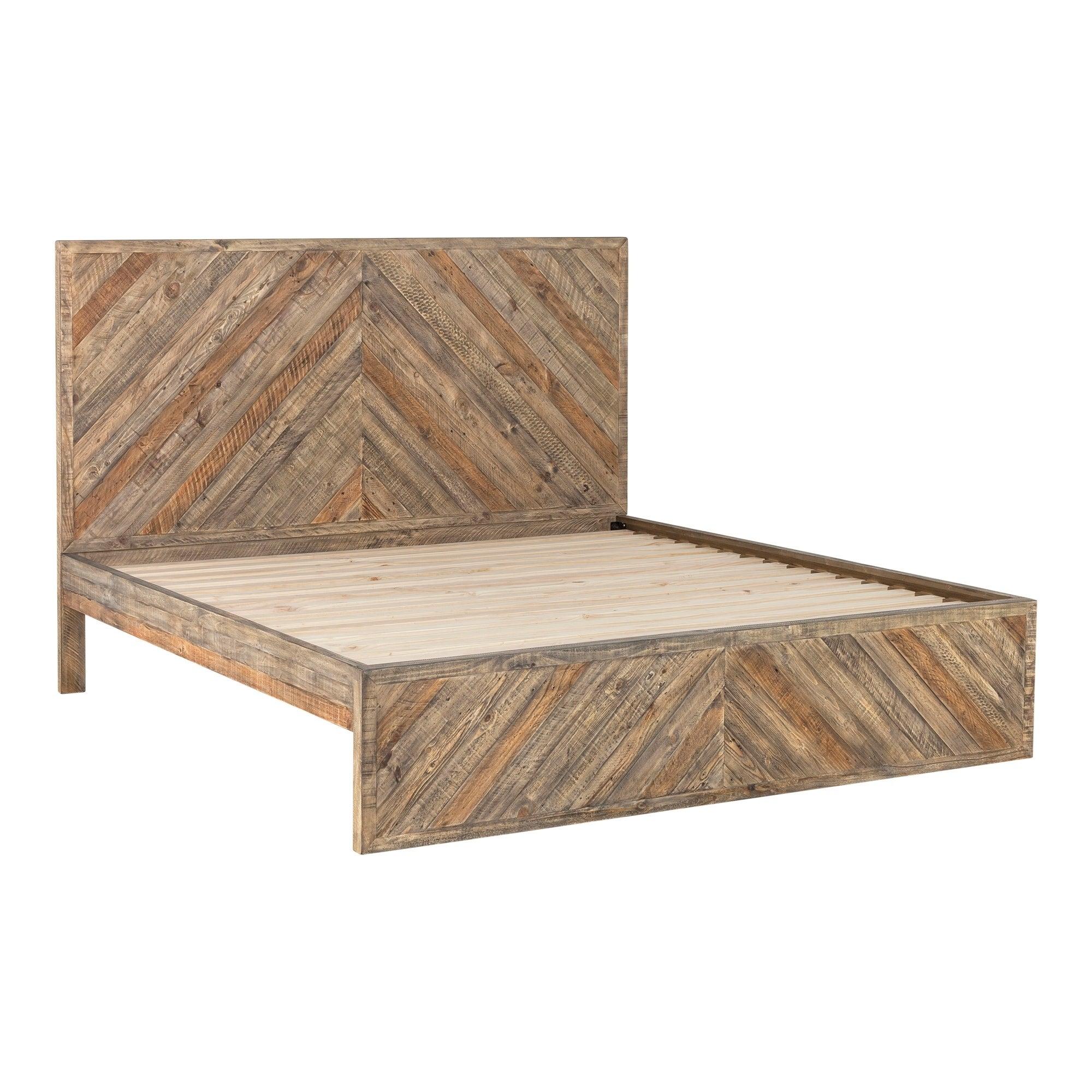 Aurelle Home Temprence Reclaimed Wood Modern Platform Bed Overstock 24121156