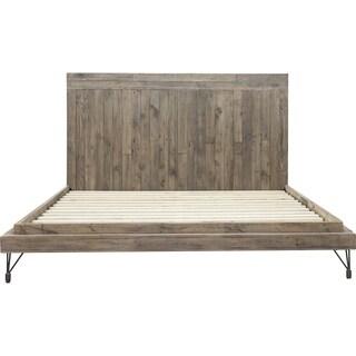 Aurelle Home Farmhouse Rustic Platform Bed