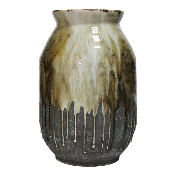 Aurelle Home Shiny Ceramic Modern Vase