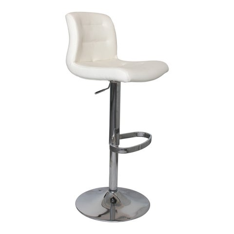 Aurelle Home Deep Seat Transitional Adjustable Stool with Footrest