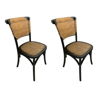 Aurelle Home Bali Rattan Transitional Dining Chairs (Set of 2)