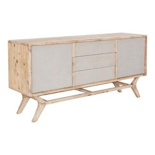 Aurelle Home Modern Acacia Wood Sideboard