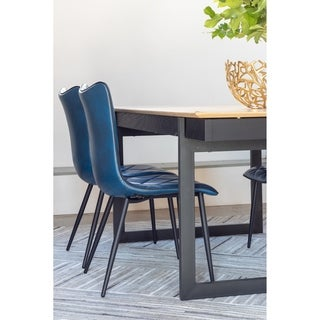 Aurelle Home Quilted Back Modern Dining Chairs (Set of 2)