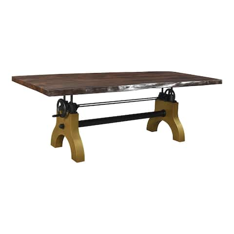 Aurelle Home Solid Industrial Dining Table