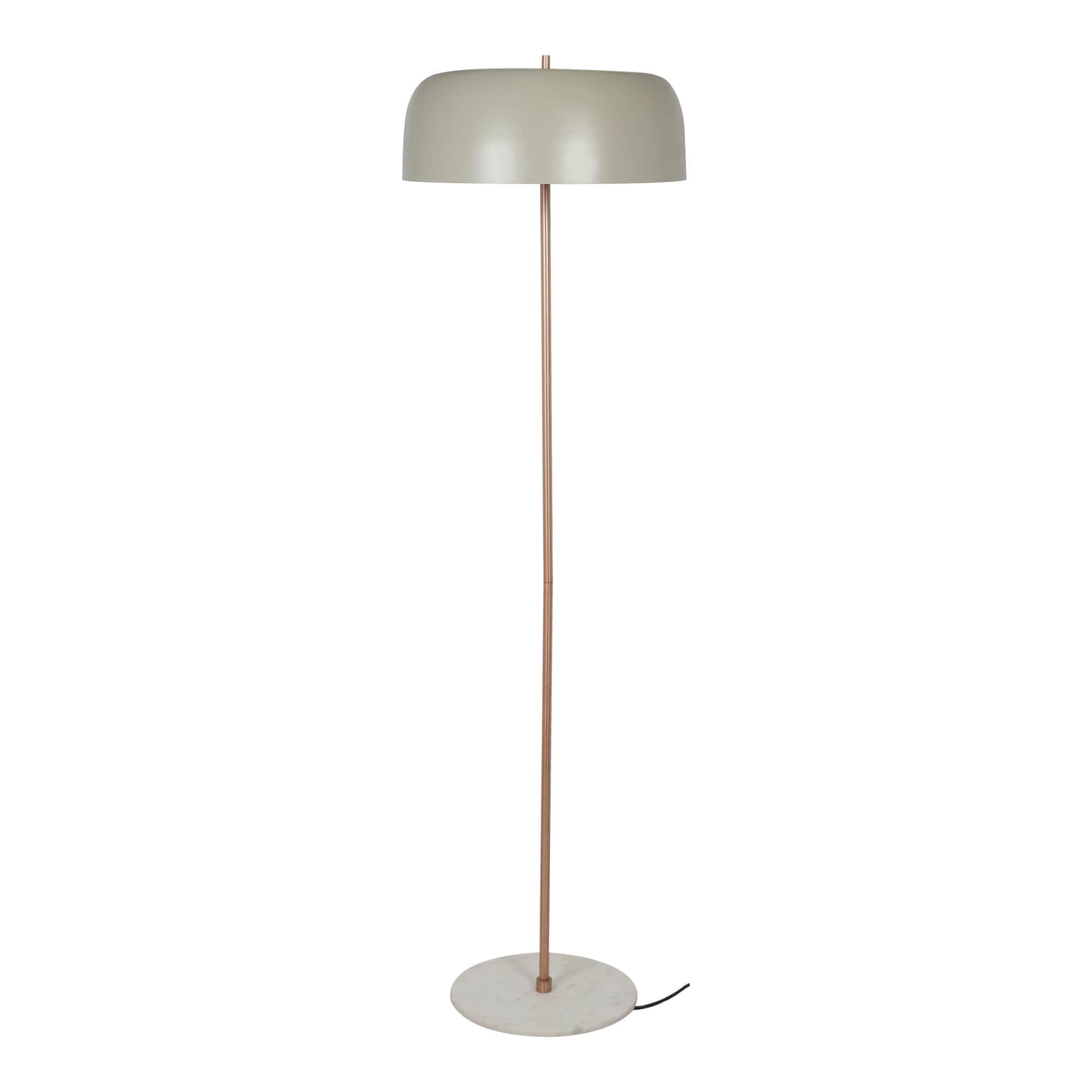 Shop Black Friday Deals On Aurelle Home Gillian Marble Base Mid Century Modern Floor Lamp Overstock 24121266