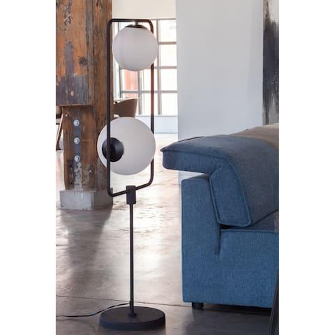 Aurelle Home Sleek Modern Globed Light Floating Floor Lamp