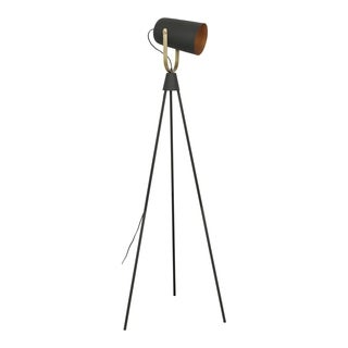 Aurelle Home Old Hollywood Industrial Floor Lamp