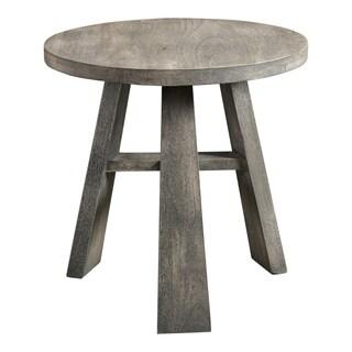 "Aurelle Home Jorge Weathered Modern Side Table - 20"" x 20"" x 20"""