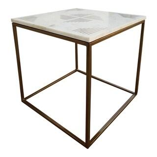 Aurelle Home Que Marble Top Modern Side Table