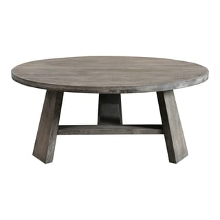 "Aurelle Home Jorge Weathered Modern Coffee Table - 16"" x 38"" x 38"""