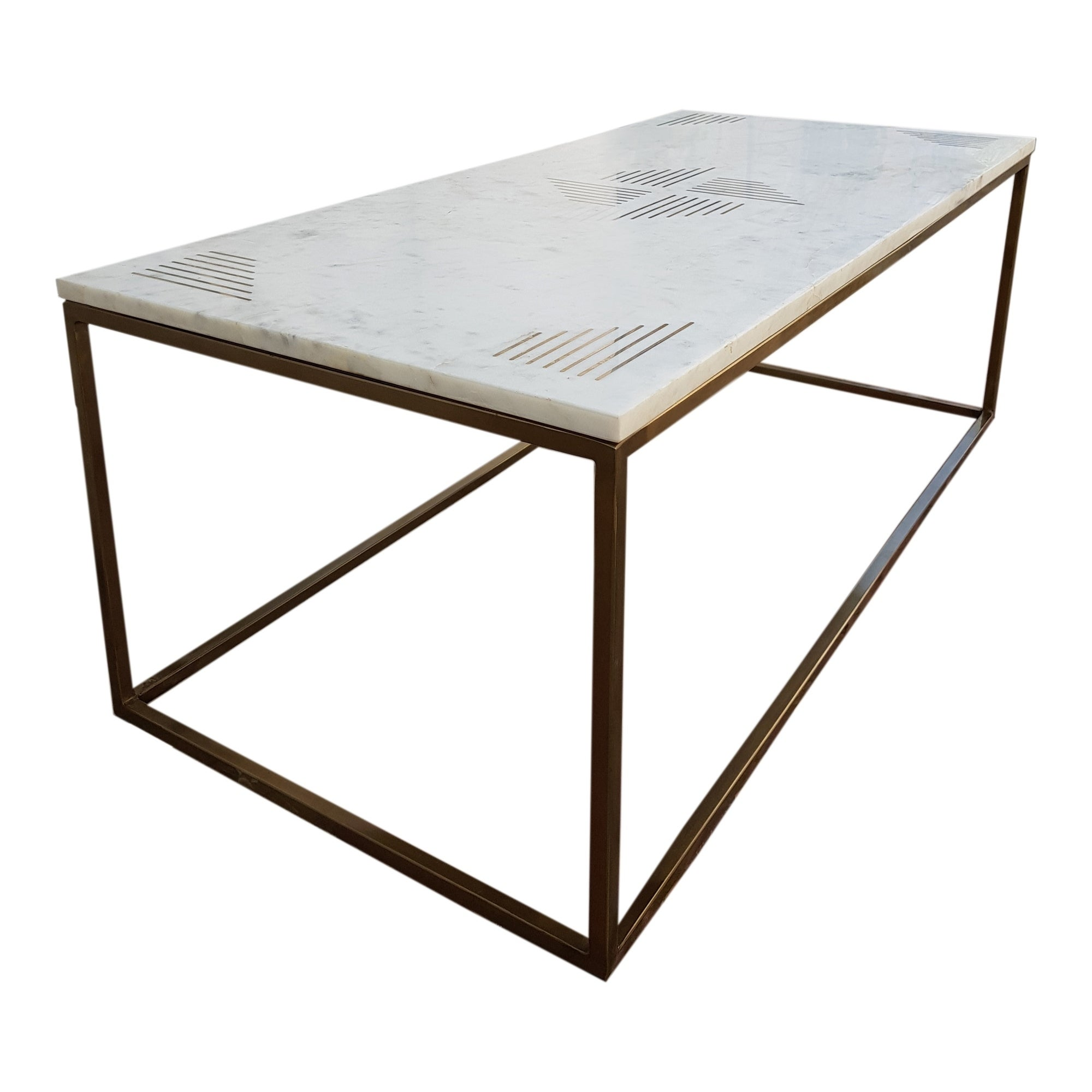 Aurelle Home Solid Marble Top Coffee Table