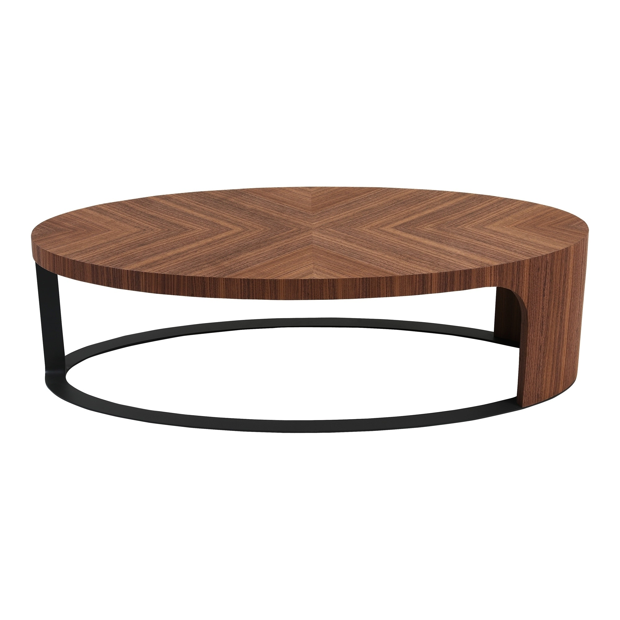 Aurelle Home Cascading Walnut Coffee Table
