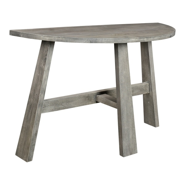 Aurelle Home Amanda Glass Top Rectangle Coffee Table: Shop Aurelle Home Weathered Modern Console Table
