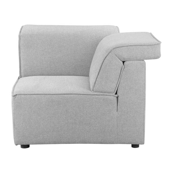 Shop Aurelle Home Riffle Light Grey Corner Modular Sofa Element - On ...