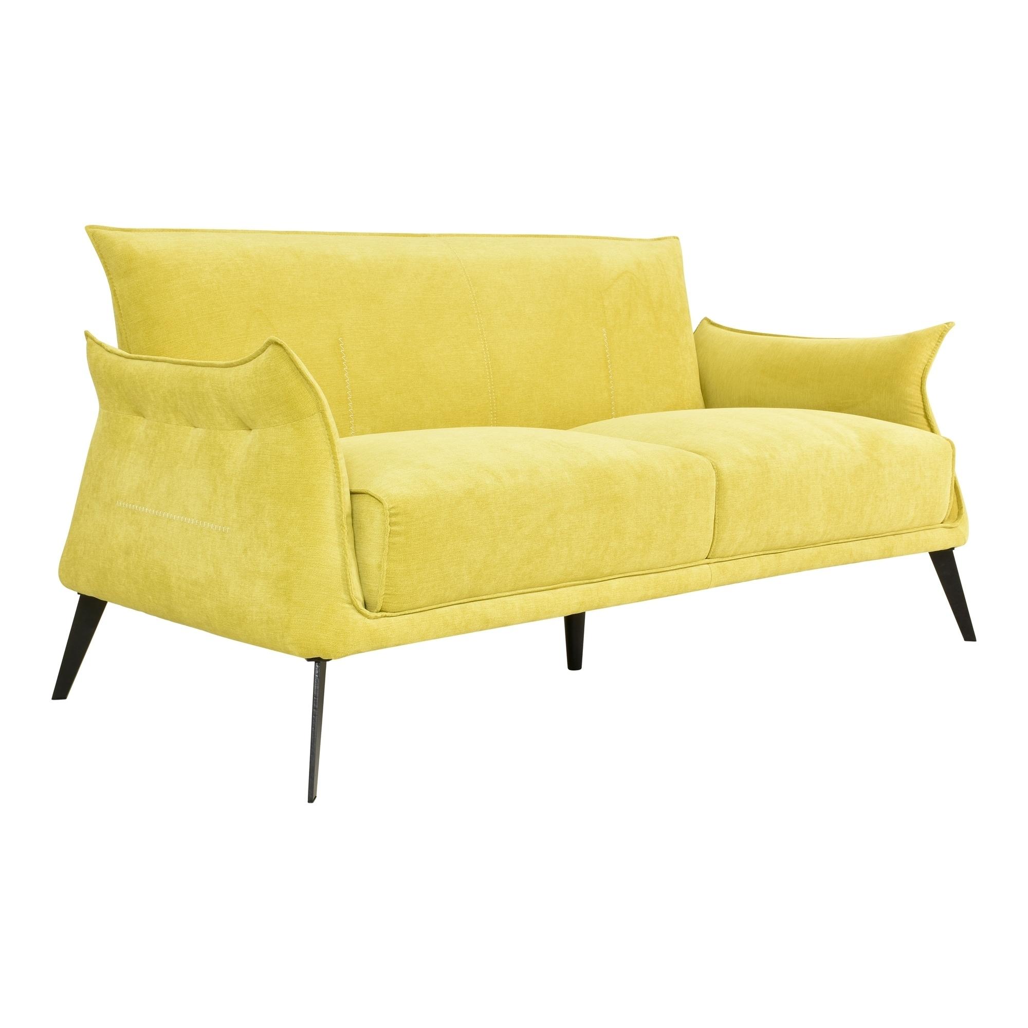 Aurelle Home Tulip Modern Yellow Sofa