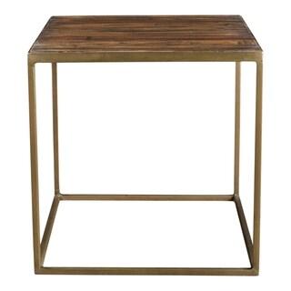 "Aurelle Home Milo Reclaimed Industrial Side Table - 16"" x 16"" x 16"""