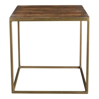 Aurelle Home Reclaimed Industrial Side Table
