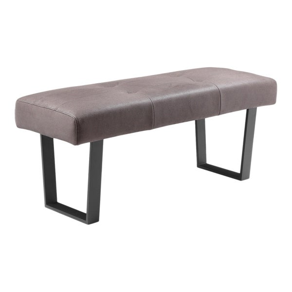 Shop Aurelle Home Light Grey Stylish Modern Bench