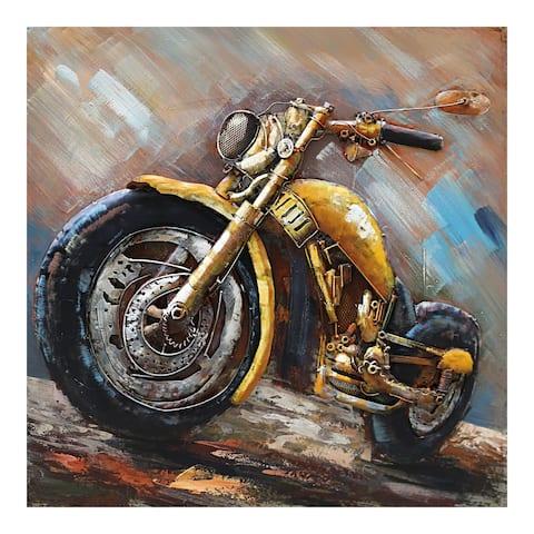 Aurelle Home Metal Rustic Motorcycle Wall Decor