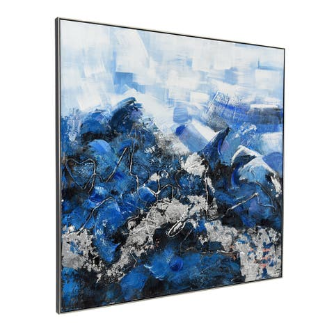 Aurelle Home Shades of Blue Transitional Wall Decor