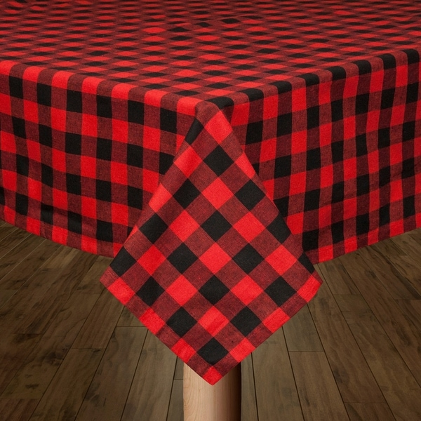 Shop Buffalo Check Red And Black Tablecloth On Sale