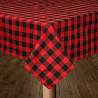 Buffalo Check Red and Black Tablecloth