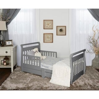 Dream On Me, Sleigh Toddler Bed w/ Storage Drawer