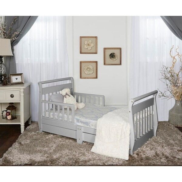 Shop Dream On Me Sleigh Toddler Bed W Storage Drawer
