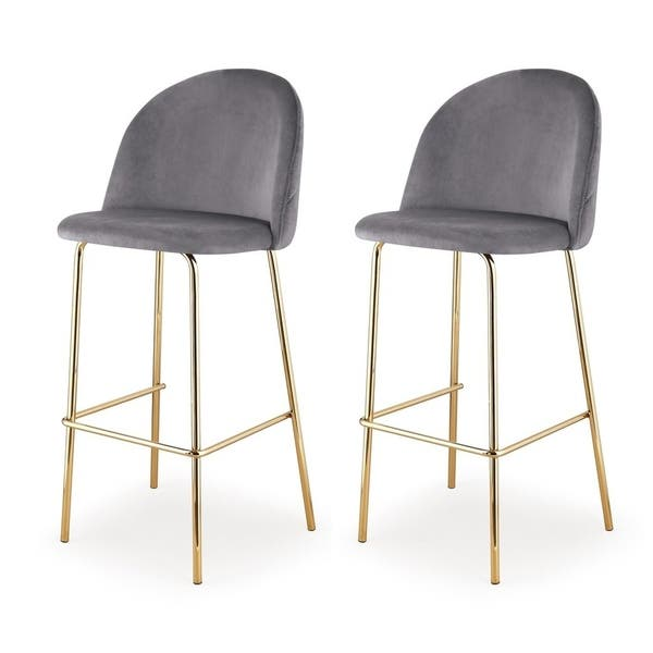 Terrific Shop M62 Counter Height Stool Gold Finish Set Of Two Machost Co Dining Chair Design Ideas Machostcouk