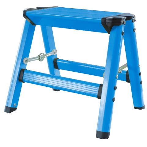 AmeriHome Lightweight Single Step Aluminum Step Stool - Bright Blue