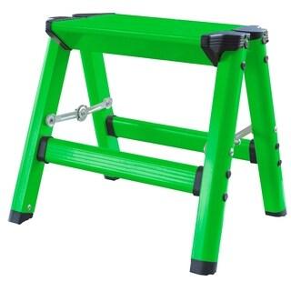 AmeriHome Lightweight Single Step Aluminum Step Stool - Bright Green