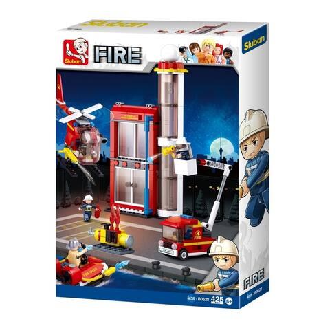 Sluban B0628 Firefighting Series Blocks Construct Bricks Toy (425 Piece), Fire Training Building
