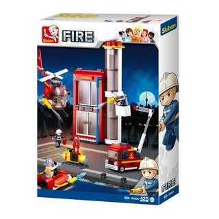 Sluban B0628 Firefighting Series Blocks Construct Bricks Toy (425 Piece), Fire Training Building